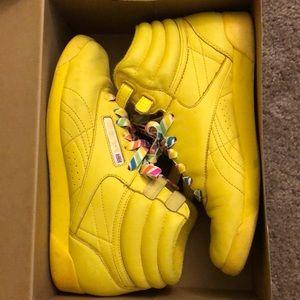 Rare Reebok Yellow Sneakers